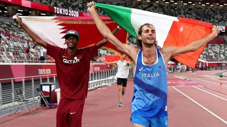 Mutaz Essa Barshim Qatar Gianmarco Tamberi Italy Olympic Games Tokyo 2020