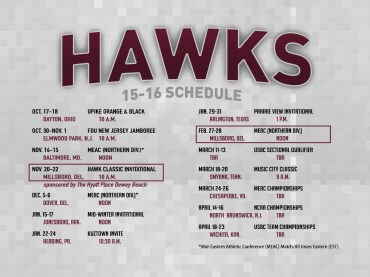 UMES Bowling Schedule Card (Back)