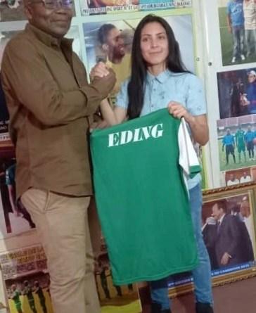 Eding FC LEKIE  : malgré la fuite du coach français , Fabien Mvogo ramène une joueuse brésilienne