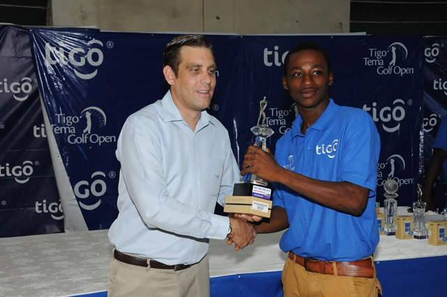 Tigo Business Philip Bowen makes presentation
