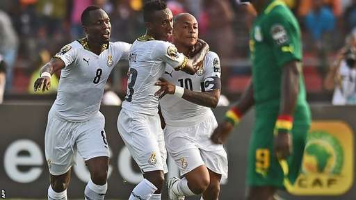 Dede Ayew put Ghana ahead in the first half but it was not enough to avoid defeat