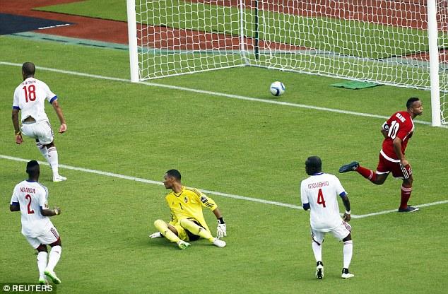 Equatorial Guinea score opening goal