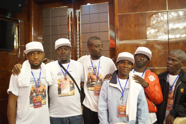 Team Chorkor Banku and Tackie Commey in China including matchmaker, Solomon Otoo Lartey