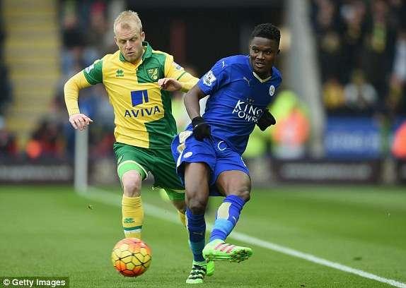 Daniel Amartey makes Leicester debut