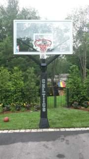 DIY Basketball Pole Pad Lettering