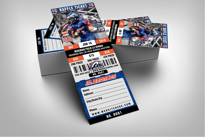 Halftime Football Raffle Ticket Style Template  Sports Invites