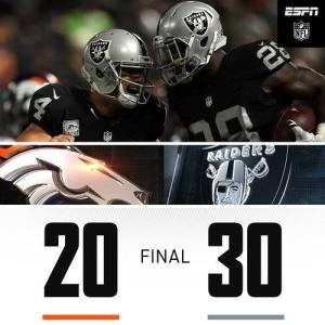 Broncos vs Raiders: Score| Result| Highlights