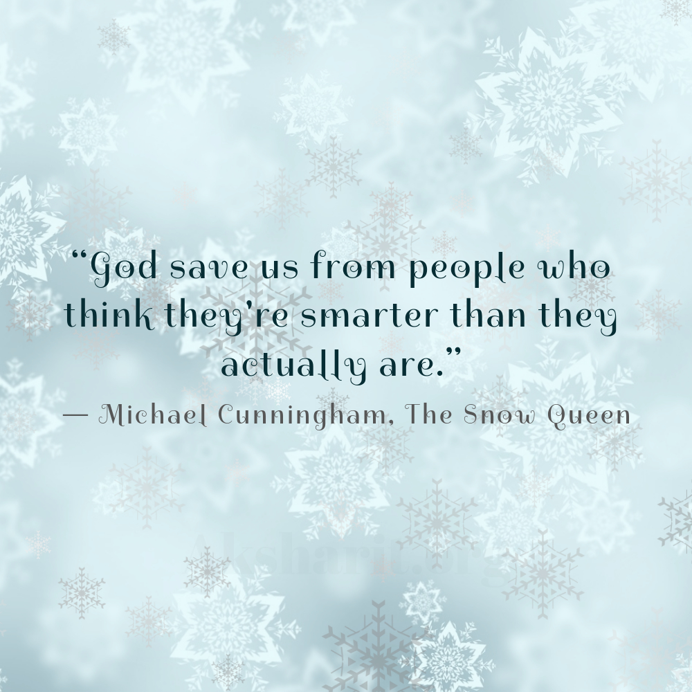 5 Michael Cunningham The Snow Queen