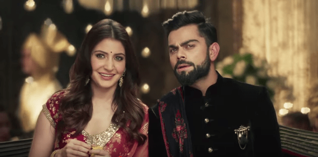 Virat Anushka Manyavar clothing wedding ad mohey 4