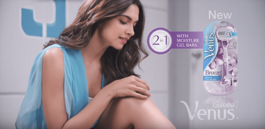 Gillette Venus Deepika Padukone Brand Endorsement Brand Ambassador Sponsor List