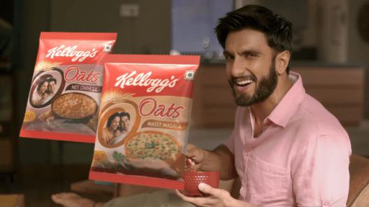 Kellogg's Oats Brand Ambassador endorsement sponsor Ranveer Singh.png