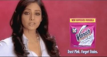 Vanish Sridevi Brand Endorsements Brands Endorsed By Sridevi Ads TVCs Advertising