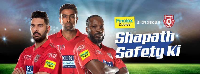 Kings XI Punjab Official Sponsors List Partners Brand Ambassador Logos On Jerseys Finolex Cables