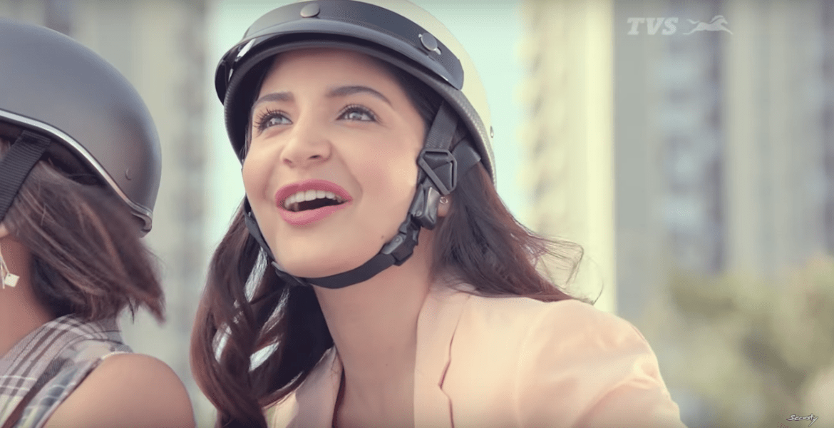 Anushka Sharma Brand Endorsements Brand Ambassador Promotions TVC Advertisements List TVS Scooty