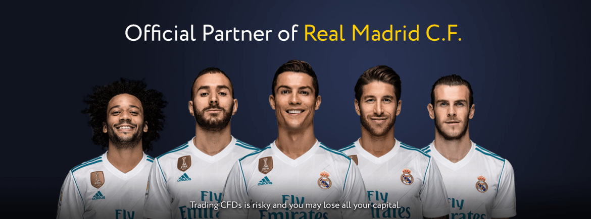 Real Madrid CF Offical Sponsorships Partners Brand Tie Ups Advertising Marketing Exness