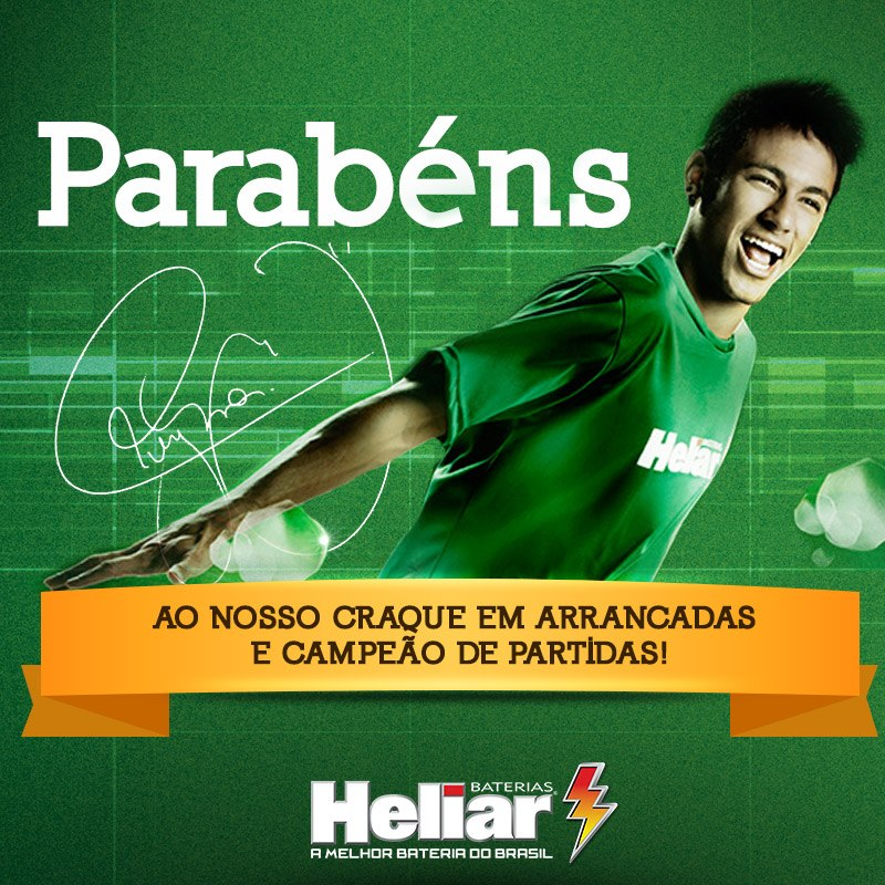 Neymar Jr. Brand Endorsement Deals Promotions Ambassador TVC Advertising Sponsorship Partnership Baterias Heliar