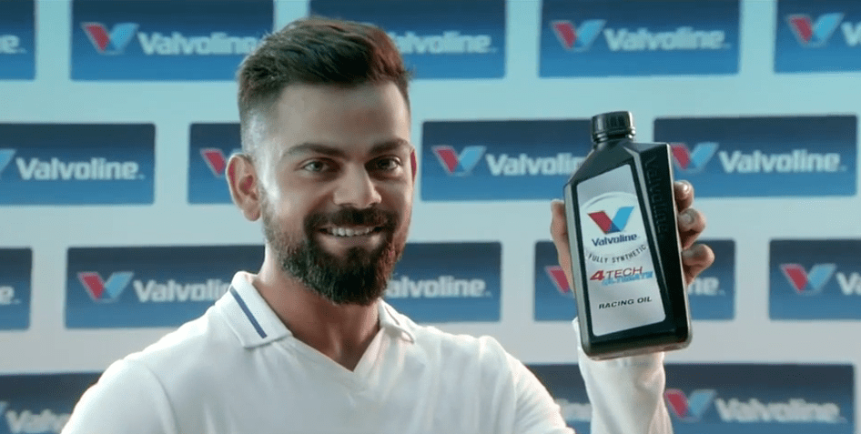 Virat Kohli Brand Ambassador Endorsements Advertising TVCs product promotions brand value list  Valvoline
