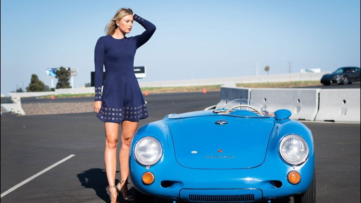 Luxury cars endorsed advertised promoted driven by tennis male female players sports sponsors list Maria Sharapova Porche