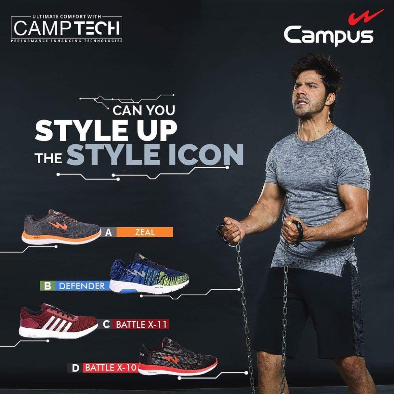 Varun Dhawan Brand Endorsements Ambassador Advertising Marketing Campaign TVC Advertisement Campus Shoes