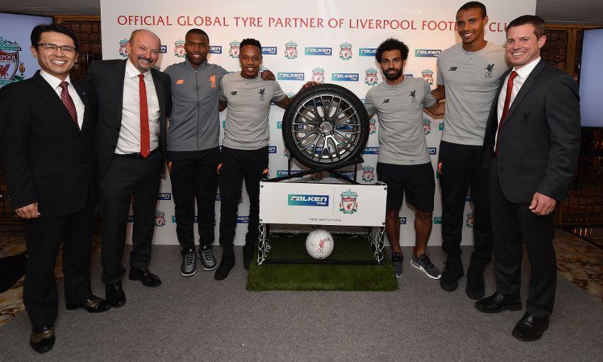 Liverpool Sponsors Partners brand associations advertisements logos ads Falken Tyres