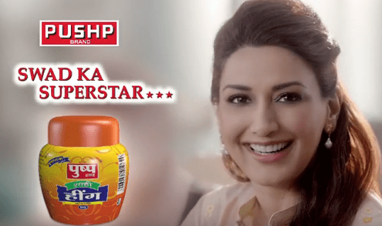 Sonali Bendre Brand Endorsements Ads Advertisements TVCs advertising commercials Pushp Brand Masale Spices Achaar Masala Ajwain