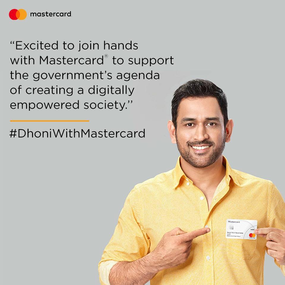 Dhoni MasterCard brand ambassador