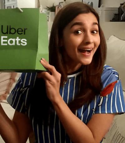 Alia Bhatt Uber Eats Brand Ambassador Advertising Marketing Ad TVC