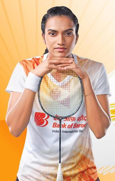 PV Sindhu Brand Ambassador Endorsements Value Sponsors Advertising Commercials TVCs Partnerships Logos on Jersey Bank Of Baroda