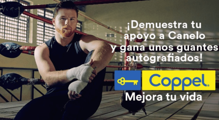 Canelo Alvarez Brand Ambassador Allies Partners Sponsors Brand Associations Advertising TVCs Endorsement List Promotions Social Media Paid Ads Coppel