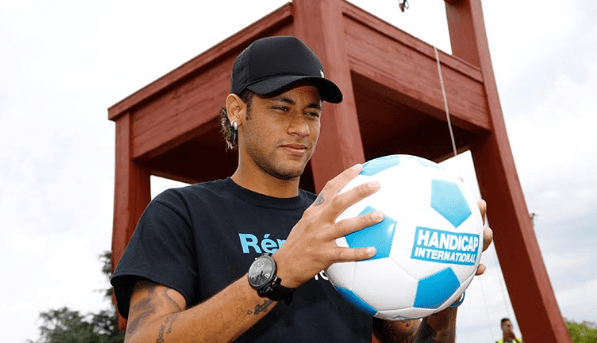 Neymar Junior Jr Brand Ambassador Partners Endorsements Lists Advertising associations sponsorships social media promotions TVC advertisements sponsors Handicap International