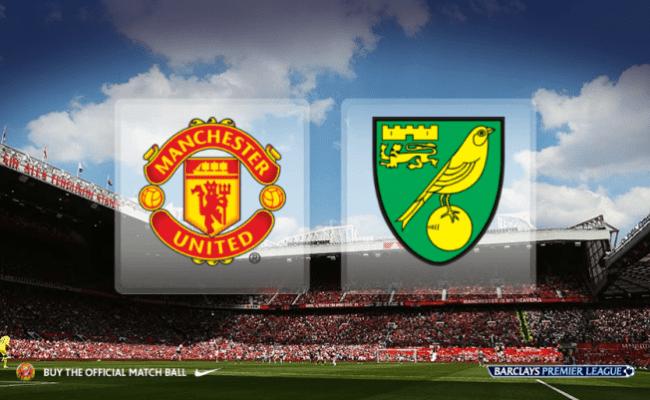 Manchester United V Norwich Premier League 2015 Team