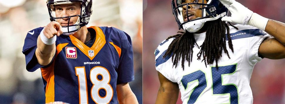 Peyton Manning y Richard Sherman