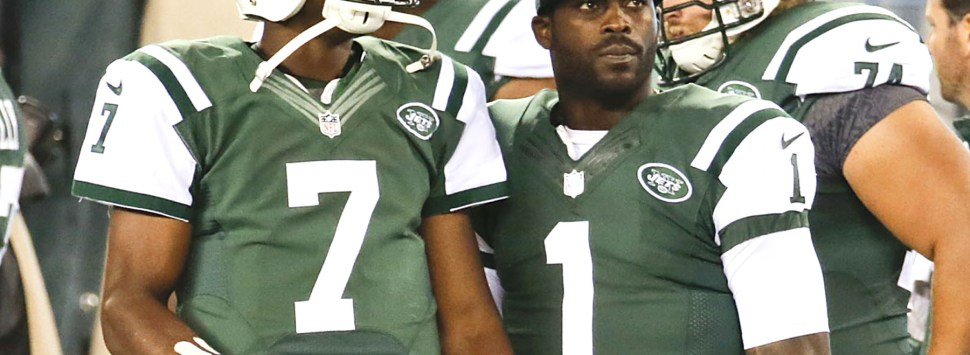 Geno Smith y Michael Vick