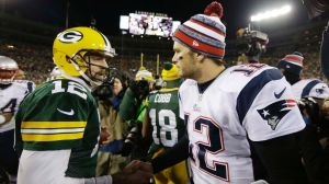 Aaron Rodgers y Tom Brady