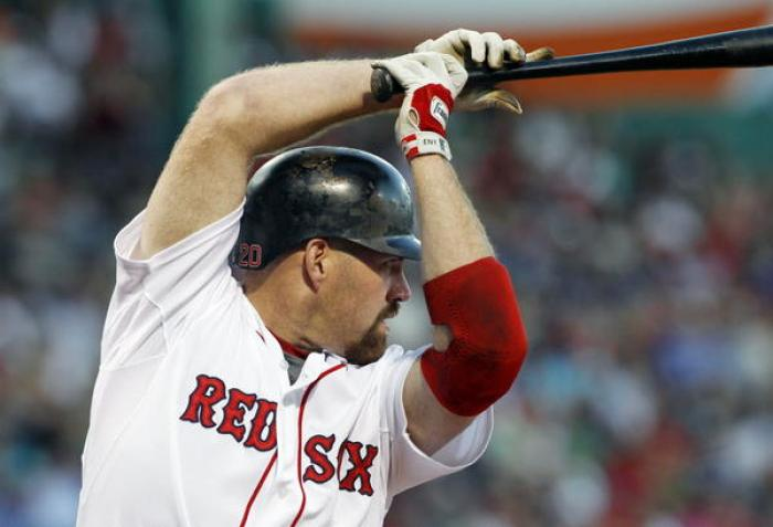 "Kevin Youkilis, conocido como ""The Greek God of Walks"" por su paciencia al bate."