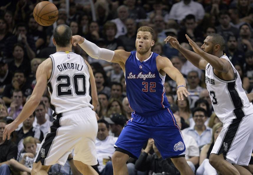Blake Griffin contra los Spurs