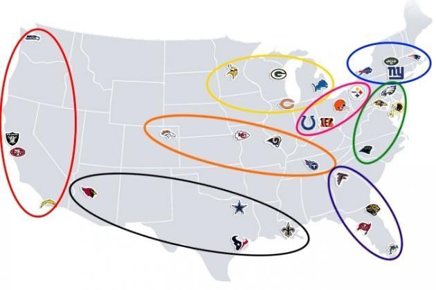 Posible realineación de las divisiones por localización geográfica