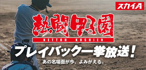 高校野球ファン待望!『熱闘甲子園プレイバック一挙放送!』記憶に残る年度を3年分、たっぷりとオンエア