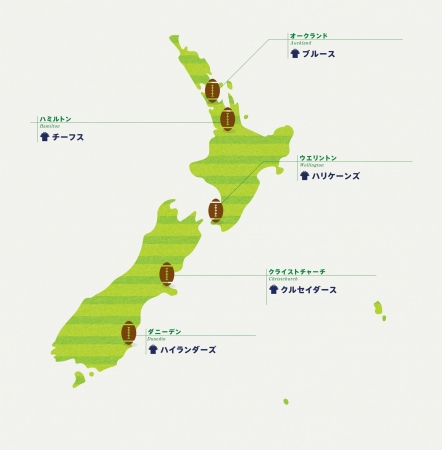 世界最大のラグビートーナメントで大活躍のオールブラックスを輩出  各地のラグビーチームで巡る ニュージーランド