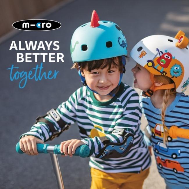 マイクロスクーターオリジナルデザインの3Dヘルメットを新発売!ヘルメットも新色追加&NEWパッケージに入れ替わり!