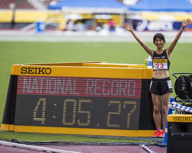 田中希実選手が女子1500m日本新記録更新! 3000mに続く自身2つ目の日本新記録