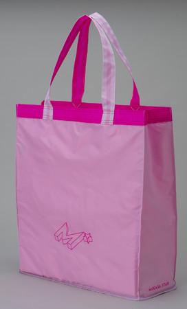 景井ひなコラボデザイン レジャーバッグ (ホワイト X ピンク)