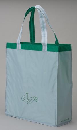 景井ひなコラボデザイン レジャーバッグ (ホワイト X グリーン)