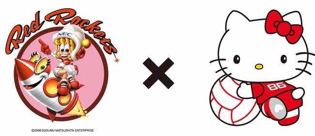 古賀紗理那×廣瀬七海×ハローキティ!2人のキャラクターデザインとハローキティの初コラボ商品を12月4・5日の『ハローキティコラボDay』で発売。【NECレッドロケッツ】