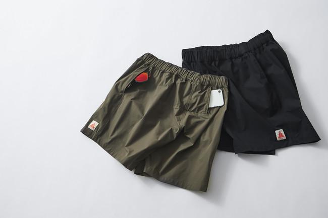 SUGARCANE SHORTS ¥12,000(税込)サトウキビ由来のポリエステルを使用した、しなやな肌触りのランニングショーツ。ミニマルなデザインながら、サイドポケットとスマートフォンが入るヒップポケットを配し、デイリーウェアとしても活躍します