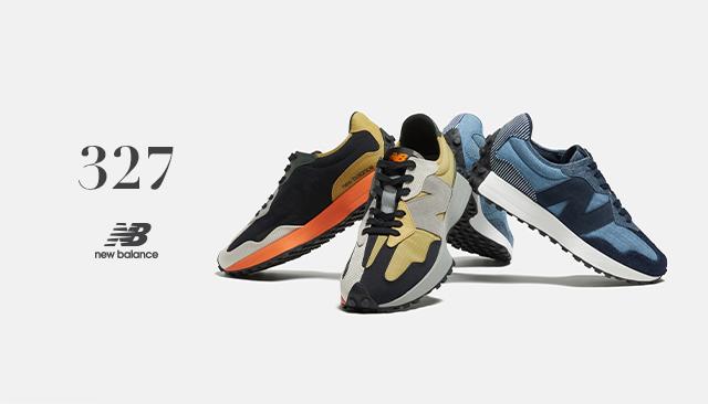 70年代のレトロ・ランニングスタイルを現代風にアレンジした「327」 パッチワークイメージの新色を発売