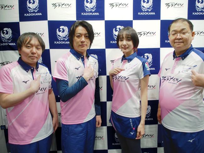 (左から)堀慎吾選手、内川幸太郎選手、岡田紗佳選手、沢崎誠選手
