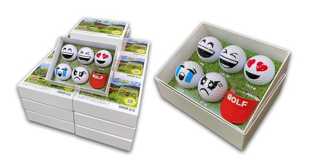 ゴルフボール5種とサンバイザーのお得な6点セットパッケージ