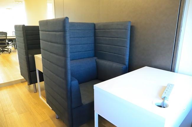 2割個室の個別会議スペース