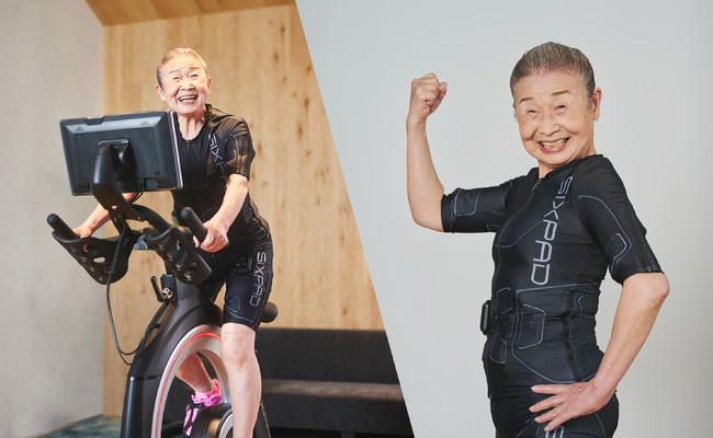 """日本最高齢フィットネス・インストラクター""""タキミカさん(90歳)""""が、6月18日(金)SIXPAD HOME GYMにてインストラクターデビュー"""